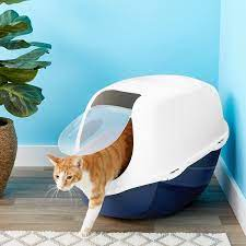 Orange Cat Hooded Litter Box